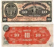 "Mexico $ 10 Pesos"" Banco de Guanajuato"" D  S-290c"