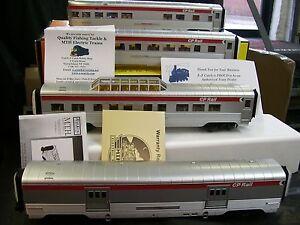 CP Rail Canadian 4-Car 60' Streamlined MTH O Gauge ABS Passenger Set # 30-67634