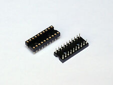 Tyco Augat 2-1571551-6 IC Socket DIP 20 Pins Machined Gold Contact 2pcs