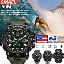 SMAEL Men's Waterproof Sports Military Shock Analog Quartz Digital Wrist Watch