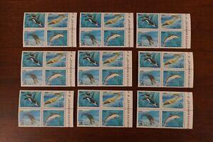 Russia #5933-6 1990 whales / dolphins set VF MNH x 9 sets 2017 cv$18.00 (k457)