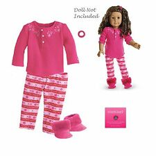 """American Girl MY AG FAIR ISLE PAJAMAS for 18"""" Dolls NEW Clothes Boots Retired"""