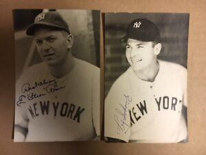 Steve Rosen NY Yankees Signed Postcard 1940s JSA Precertified