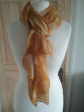 Ladies Gold Mustard Ivory Lightweight Scarf Wrap Rectangle