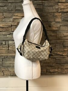 Lauren Ralph Lauren LRL Classic Tan Beige RLL Logo Small Hobo Purse Bag Handbag