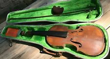 Vintage Violin Unmarked 1-Pc. Maple Back Full Size 4/4 Maybe German 1900  AS IS