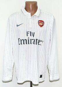 ARSENAL LONDON 2009/2010 THIRD FOOTBALL SHIRT JERSEY NIKE SIZE L LONG SLEEVE