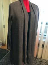 NWT VOCAL Dressy Open Front Long Back Cardigan Long Sleeve Brown size XL to 1X.