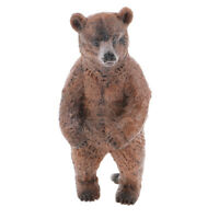 Realistic Standing Brown Bear Wild Animal Model Figure Figurine Kids Toy