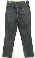New PacSun Womens Mom High Rise Ripped Gray Icon Denim Industrial Jean 28 x 28