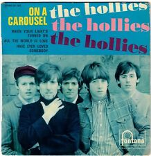 THE HOLLIES On a carousel 1967 RARE FRENCH EP / PS Fontana