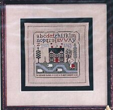 Drawn Thread THE BROWN RANCH SAMPLER Cross Stitch Chart Only ~ house sampler