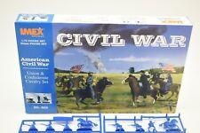 1/EA  IMEX 602 1/72 FIGURES AMERICAN CIVIL WAR UNION & CONFEDERATE CAVALRY SET