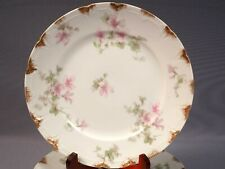 Limoges France CH Field Haviland GDA Pink Blue Clematis Iris Lily PLATES