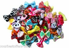 Dog Hair Clips Small Bowknot Pet Grooming Supplies Pet Hair Bows Assorted 50Pcs
