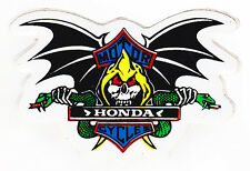 Skull & Bat Wings Honda Sticker Motorcycles