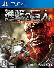 USED PS4 Attack on Titan Shingeki no Kyojin Koei Tecmo Games F/S Japan Import
