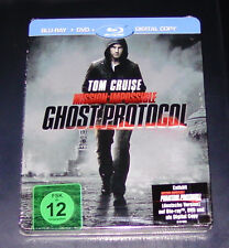 MISSION: IMPOSSIBLE GHOST / PHANTOM PROTOCOL STEELBOOK GEPRÄGT BLU RAY NEU
