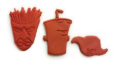 Aqua Teen Hunger Force Frylock Master Shake Meatwad Cookie Cutter Set