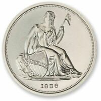 1 - 2 oz .999 Silver Round - 1836 Gobrecht Dollar Tribute- High Relief-Protected