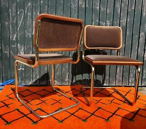 2 x Retro Mid Century Marcel Breuer Cantilever Cesca Chairs