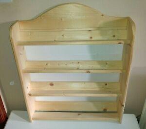 Rustic Pine Wooden Handmade Ribbon Holder / Rack / Shelves - Craft Room