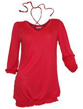 Lockre Sitzende 3/4 Arme Damenblusen,-Tops & -Shirts mit V-Ausschnitt und Viskose