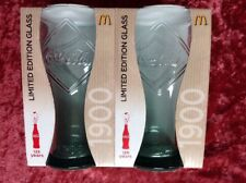 Coca Cola Pair of Limited Edition McDonalds Glasses 1900 2011 New Boxed