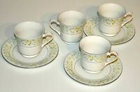 Crown Ming Fine China Cups & Saucers set Vintage Retro Tea Coffee plate set VGC