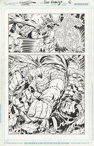 O.M.A.C. #5 Page 6 HALF SPLASH Original Art KEITH GIFFEN/SCOTT KOBLISH 2012 DC