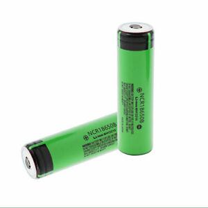2x Panasonic NCR18650B Akku 3400mAh Li-Ionen grün NEU ohne Schutzelektronik DE