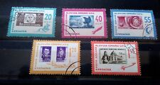 1963 Romania -  full Set of 5 Airmail Stamps - 15th UPU Congress Vienna - Used