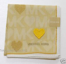 MICHAEL KORS Handkerchief Heart motif MK Print from Japan