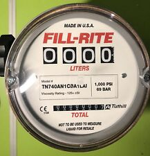 Fill-Rite TN740AN1CBA1LAI 2-38 LPM 1-Inch BSPP Thread Resettable Meter