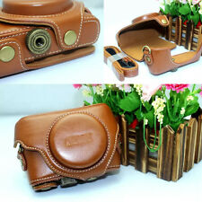 Brown Leather Camera Case Bag Cover For Sony DSC-RX100  M3 DSC-RX100 IV RX100M4
