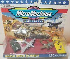 MicroMachine Military Tank Sherman Liberator  Lightning Bomber World War II 2