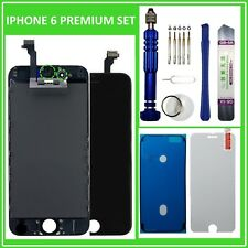 Display für iPhone 6 RETINA LCD Front Glas Bildschirm Scheibe SCHWARZ BLACK NEU
