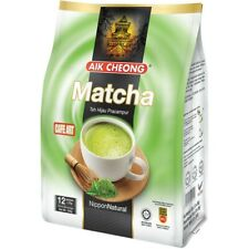 AIK CHEONG CAFE ART Instant Green Milk Tea Mix MATCHA (12 sachets x 25g) HALAL