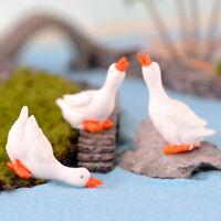 Goose Mini Miniature Fairy Garden Ornament Decor Pot Craft Accessor SL