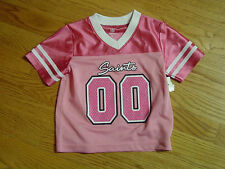2T New Orleans Saints Pink Football Jersey NFL Infant Baby Toddler Girls New