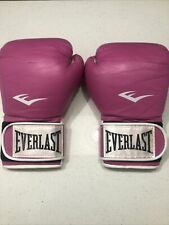 Womens 12oz Pro Style Training Boxing Gloves by Everlast in Pink