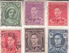 Australia 1937-1950. King George VI. Definitive set. Used