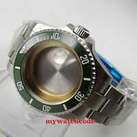 43mm sapphire glass green ceramic bezel Watch Case fit ETA 2824 2836 MOVEMENT 64