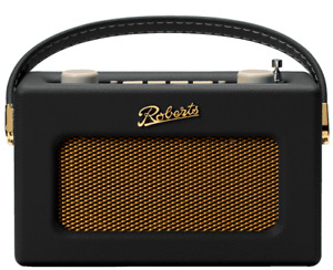 Roberts Revival Uno DAB/DAB+/FM Portable Digital Radio With Alarm - Black
