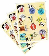 3 Sheets LOONEY TUNES Reward Stickers 1997 Tweety Sylvester Pepe le Pew Daffy