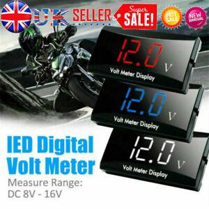 12V LED Digitals Display Voltmeter Car/Motorcycle Voltage-Volt Gauge Panel Meter