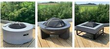 More details for gsd fire pit large faux concrete – mgo bbq grill bowl for garden/patio! 3 styles