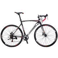 Road Bike 21 Speed Mens Bikes 700C wheels Bicycle Disc Brakes 54cm