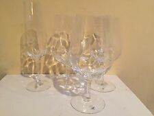 Orrefors Dizzy Diamond Red Wine? Glasses Goblets  - 3 and Champagne Flute - 1