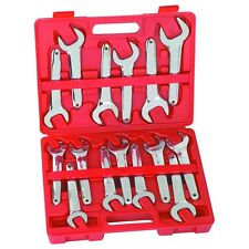 NEW 15 PC Farmers Style 20-36 MM Metric Service Wrench Set With Case FREE SHIP!